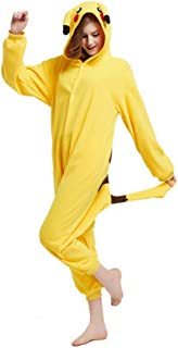 1c5a9d917d295 WOWTOY Adulte Unisexe Anime Animal Costume Cosplay Combinaison Pyjama  Outfit Nuit Vetements Onesie Fleece Halloween Costume
