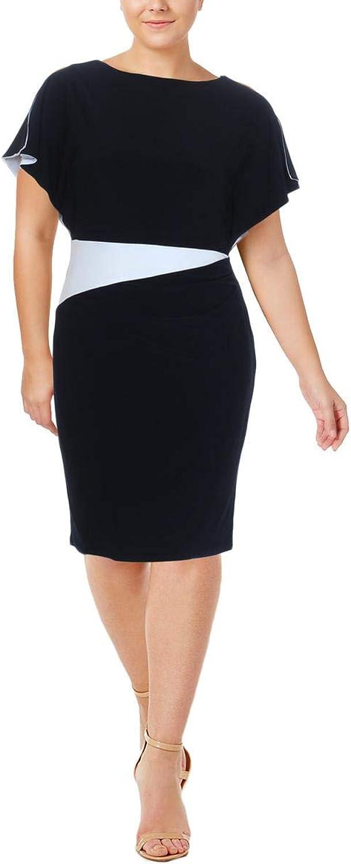 Ralph Lauren Womens Gathered Pull On Wear to Work Dress
