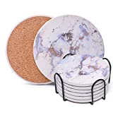 Best Coasters - Coasters for Drinks, Absorbent Drink Coasters with Holder Review