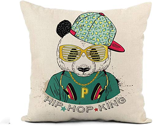 MODORSAN Throw Pillow Cover Beige Doodle Cookies Pattern Sketch on Light Chocolate Chip Home Sofa Decorativo 18'x18' Funda de Almohada Funda de Almohada Funda de Almohada 9