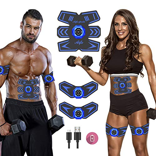 SPORTCDIA Abs Stimulator Ab Stimulator Rechargeable Ultimate Abs Stimulator for Men Women Abdominal Work Out Abs Power Fitness Abs Muscle Training Workout Equipment Portable