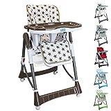Monsieur Bébé ® Chaise haute enfant pliable,...