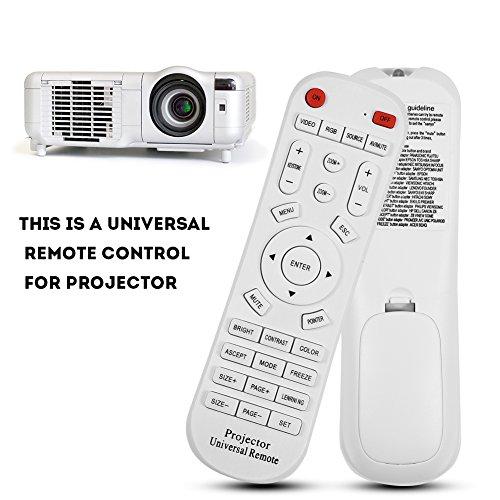 Zunate Control Remoto para Proyector, Control Remoto de Repuesto Universal DC 3V para proyector, 10m