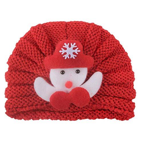 anyuq66qq Chapeau d'hiver Chapeau De Bébé Santa Claus Deer Beanies Baby Winter Hat Bonnet Tricoté Filles Garçons Chapeaux Casquettes Accessoires De Photographie Nouveau-Né, 5