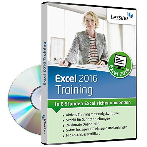 Excel 2016 Training - In 8 Stunden Excel sicher anwenden | Einsteiger und Auffrischer lernen mit diesem Kurs Schritt für Schritt die Grundlagen von Excel | inkl. Online-Kurs [1 Nutzer-Lizenz]