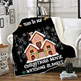 This is My Christmas Movie Watching Super Soft Theme Fleece Throw Blanket for Adult and Children