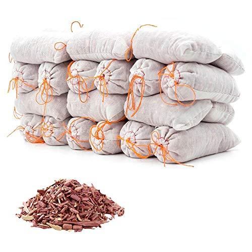 HomeDo レッドシダーサシェ 天然防虫剤 クローゼットと引き出し用のレッドシダーチップ 衣服収納用のレッドシダーブロック 100%天然素材 無毒 防ダニ 除湿 消臭 (レッドシダーサシェ-18個)