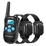 Cuteepets PET CAREE Dog Training Collar, 100% Rainproof Rechargeable Electronic Remote Dog Shock Collar 330 Yards with Beep/Vibrating/Shock Electric E-Collar