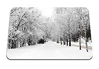 26cmx21cm マウスパッド (アベニューバーチ霧氷パス冬雪空マージ) パターンカスタムの マウスパッド