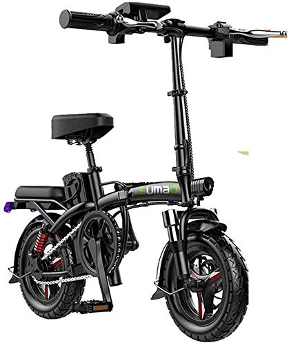 Electric Snow Bike, Fast Electric Bikes for Adults Folding Electric Bike for Adults, 14' Electric Bicycle/Commute Ebike Travel Distance 30-180 Km, 48V Battery, 3 Speed Transmission Gears Lithium Batte