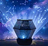 Star Night Lights for Kids,Star Projector, 360°Rotating Planet Night Lighting Lamps Sky Galaxy Constellation Projection for Baby Bedrooms (Basic)