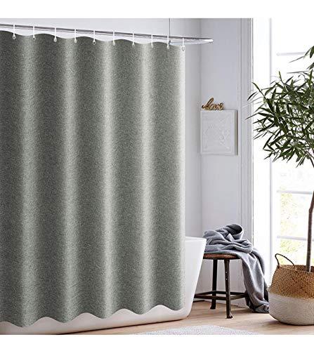 Spero Bad Duschvorhang, dunkelgrün Wasserdicht Badvorhänge, 100prozent Polyester Schimmel Schimmelfrei Badvorhang, 180cm * 180cm (dunkelgrün)