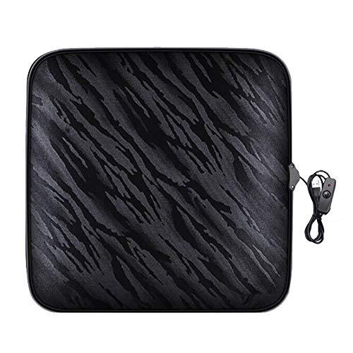 Anjin verwarmd zitkussen, USB-verwarmingswarmter-kussensloop voor koud weer en winterrijden (1 stuks)
