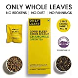 Onlyleaf Chamomile Green Tea made with 100% Whole Leaf , 27 Tea Bags