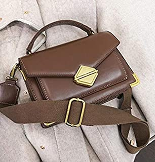 Adebie - Luxury Handbag Vintage Fashion Tote Bag 2019 New High Quality PU Leather Women's Designer Handbag Lock Shoulder Messenger Bags 20 X 8 X 14 cm Brown []
