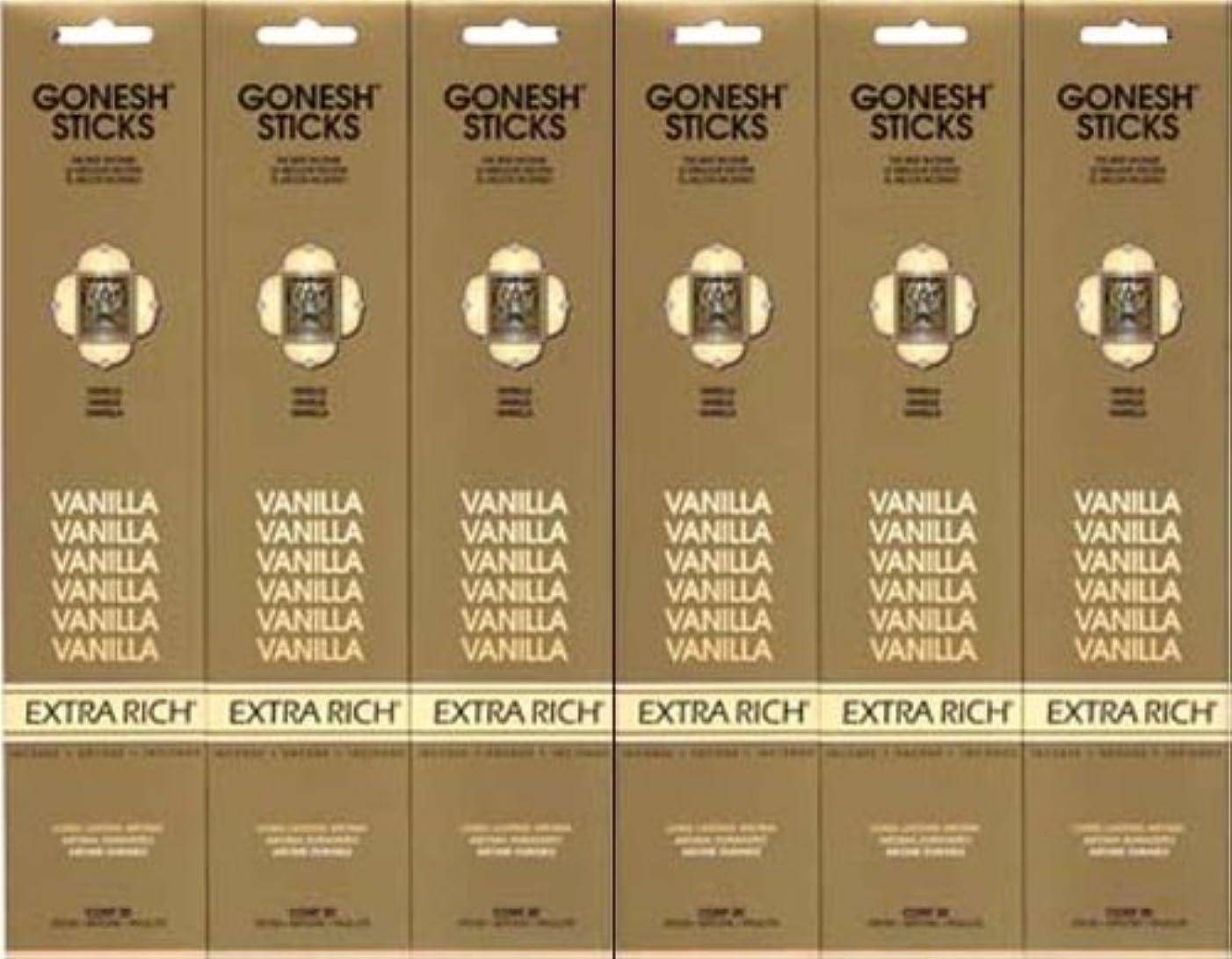 政府フラッシュのように素早く雨のGONESH  VANILLA バニラ  20本入り X 6パック (120本)