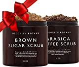 Brooklyn Botany Brown Sugar Body Scrub & Arabica Coffee Body Scrub - Exfoliating Body Scrub – Anti Cellulite Scrub Helps Fight Stretch Marks, Cellulite, Veins and Eczema – Gift for Women - 10 oz