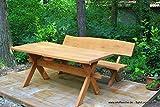Tisch Waidmann 180cm I Tisch aus massiver Eiche | Made in Germany | Gartenmöbel oder Parkbank I Holztisch I Massivmöbel I Outdoormöbel