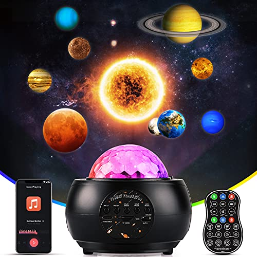 Webcem Galaxy Projector Star Projector, Star Light Projector with Remote Control, Bluetooth Music Speaker, Night Light Projector for Adults Kids Bedroom