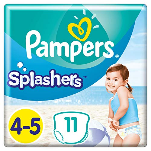 Couches-culottes de Bain Jetables Pampers Taille 4-5 - Splashers, 11 culottes