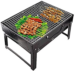 DAWN TO DUSK Barbecue mesh charcoal Grill set for home and outdoor + 3 Skewers (stick) size - 43 x 30 cm