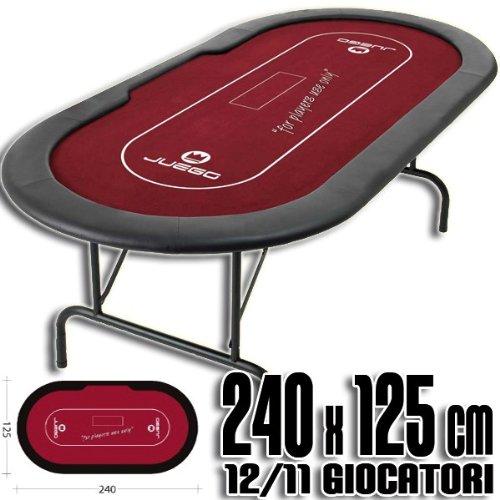 Mesa de Poker con patas plegables 240x125 cm