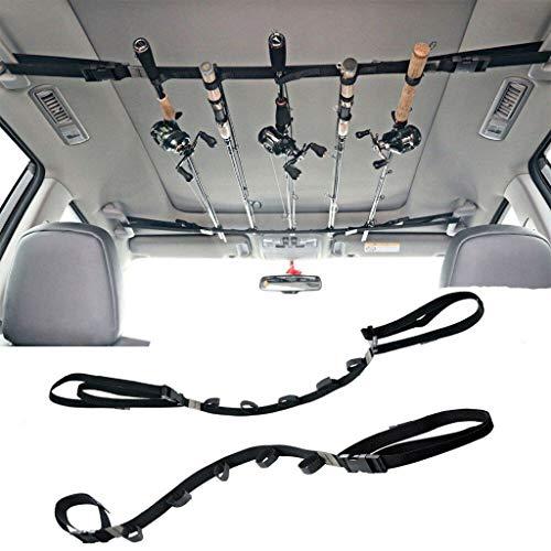 Hapo Vehicle Fishing Rod Holder 86.6 Inches Length Adjustable Polyester Strap(2 Strap)