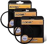Linghuang ZOMEI Filtro de Efecto de Brillo Delgado de 77 mm (4 + 6 + 8 Puntos) Filtro de Lente Cruzada Filtro de Estrella para Cámaras Canon Sony Nikon Pentax Olympus Samsung (77MM)