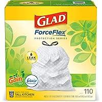 (3 X 110-Count) Glad ForceFlex Tall Kitchen Drawstring Trash Bags