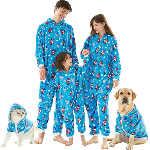 HORSE SECRET Pyjama Herren Damen Pyjama aus Fleece, Flanell, weich und bequem, für...