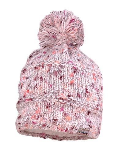 maximo Mädchen mit Pompon Mütze, Rosa (Pinkmeliert 85), (Herstellergröße: 55/57)