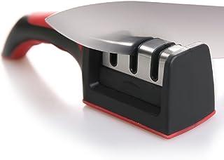 Cuchillo Afilador para rectas y cuchillos serrados, con revestimiento de diamante de 3fases sistema de afilado de la rueda, reparación y restauración de cuchillos