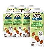 Mooala – Organic Almondmilk, Unsweetened, 1L (Pack of 6) – Shelf-Stable, Non-Dairy, Gluten-Free, Vegan & Plant-Based Beverage with No Added Sugar