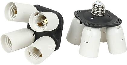 X-DREE 2 Pcs Adapter Holder 4 in 1 E27 Bulb Lamp Light Socket Splitter for Photo Studio (6e12a942-a222-11e9-8d7c-4cedfbbbd...