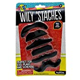 Toysmith-Wily ÔStaches, Black Sticker Mustaches for Kids, Costume...