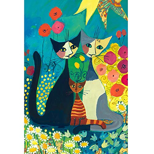 Puzzel for Volwassenen 1000 Stuks Cat familie puzzel Set, Art Schilderen Over huisdier, Funny Family Games, Home Decoration (Color : C)