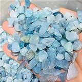 ZXCZXC Cristal Natural Rolling GEM Natural Roca Mineral Mineral DE AUMAMARINO Espacial DE Cristal DE Decoración del hogar100G (Size : 100g)