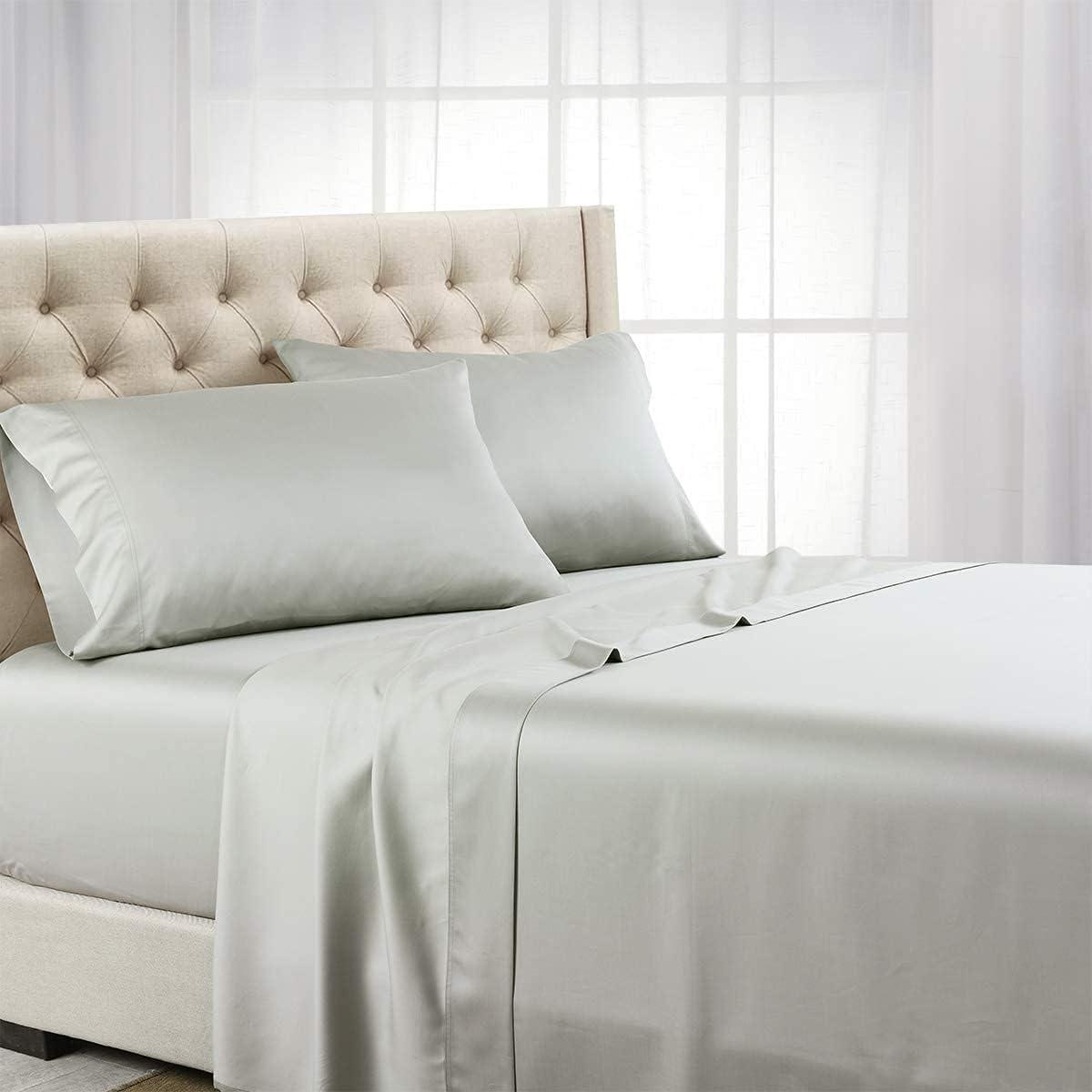 Royal Hotel Bedding ABRIPEDIC Tencel Sheets, Silky Soft and Naturally Pure Fabric, 100% Woven Tencel Lyocell Sheet Set, 4PC Set, Full Size, Gray