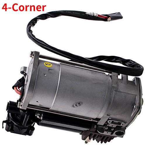 MGGRP Air Suspension Compressor Pump+Relay for X5 E53 4-Corner 2000-2006