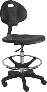 """BenchPro Deluxe Polyurethane Chair with Nylon Base and 20"""" HD Adjustable Footing, 21"""