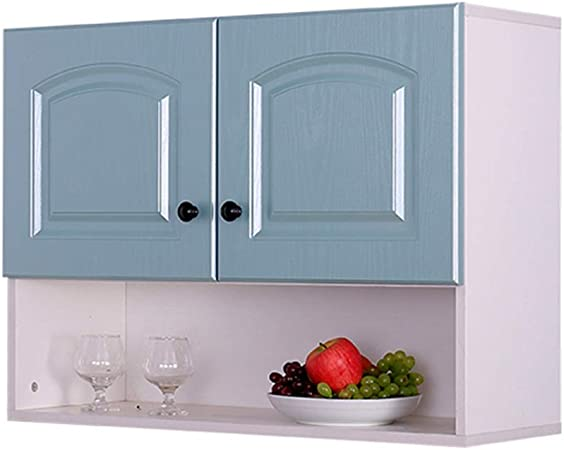 Amazon Com Furniture Medicine Cabinets Wall Cabinet Kitchen Wall Hanging Cabinet Balcony Wall Cabinet Storage Cabinet Living Room With Door Display Cabinet Color Blue Size 803060cm Home Kitchen