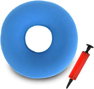 TDCQ Cojín Inflable Redondo,Cojín de Dona Cojín Redondo,Hemorroides Donut,Cojín de Anillo Inflable,Cojín de Asiento Redondo,Cojín Redondo (Azul Claro)