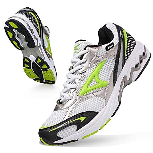 scarpe da ginnastica donna 42 ASHION Scarpe Running Uomo Trail Running Ragazzi Corsa su Strada Sportive Sneaker Ginnastica Donna ScarpeTrekking Fitness Casual 42 EU R Bianca