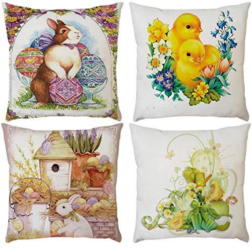 4 fundas de almohada decorativas para sillón, cama, coche, oficina, salón, 45,72 x 45,72 cm