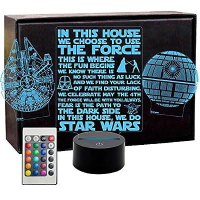 Holinox Star Wars Millennium Falcon 3D Lamp Gadget Gift by Holinox