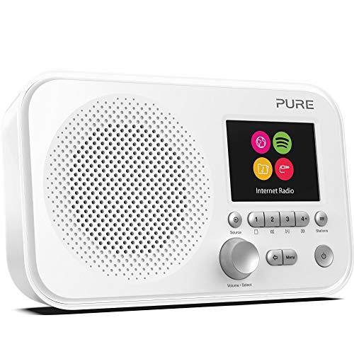 Pure P154426 Elan IR3 Digitalradio (Internetradio mit Spotify Connect, über 25.000 Radiosender, Weckfunktionen, Küchen- und Sleep-Timer, 2,8-Zoll-TFT-Farbdisplay, 12 Senderspeicherplätze), Weiß