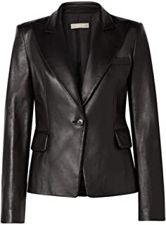 Womens Leather Jackets Motorcycle Bomber Biker Real Lambskin Leather Jacket for Women