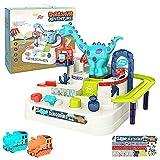 Juguetes de Pista de Coches|Dinosaurio Aventura Coche Pista de Carreras Juguetes Juegos para 3 4 5 6 años niños niñas|Juegos Interactivos Juego de Vehículos Regalos para Niños