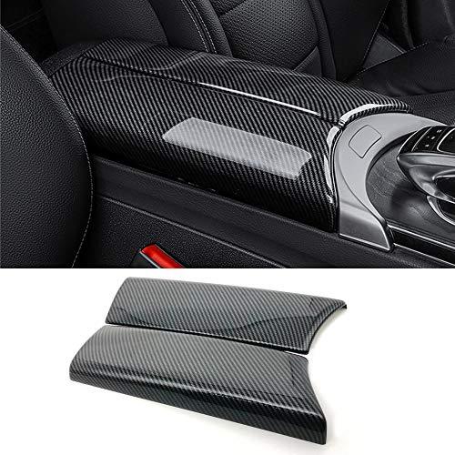 N\A for Mercedes-Benz C E GLC Class W205 W213 X253 ABS Carbon Fiber Color Car Interior Center Armrest Box Trim Cover Console Box Protect Cover (C Class W205 / GLC Class X253)