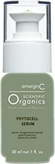 emerginC Scientific Organics Phytocell Facial Serum - Serum with Plant Stem Cells to Help Visibly Improve Skin Tone + Text...
